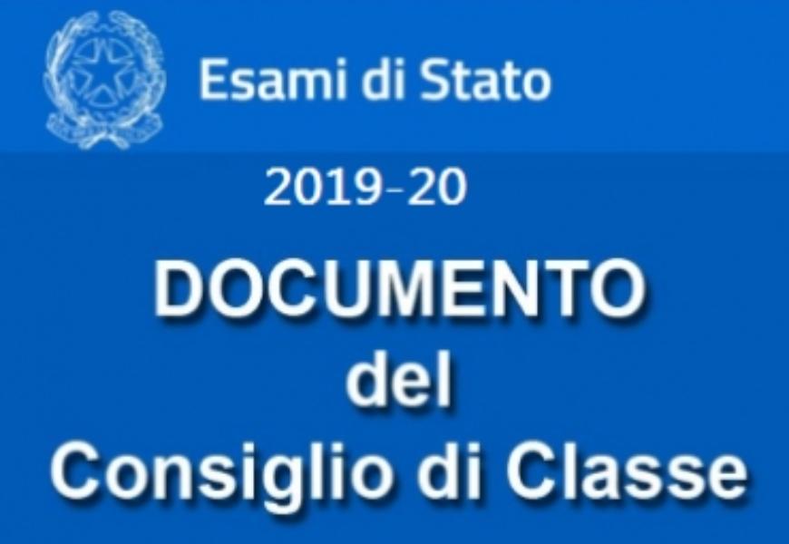 """ESAMI DI STATO a.s. 2019/2020-PUBBLICAZIONE  """" ..."""
