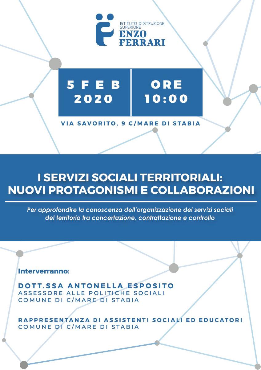 """Incontro""""I Servizi Sociali Territoriali: nuovi protagonismi e collaborazioni"""""""